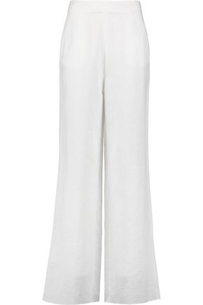 IRIS & INK Linen and cotton-blend wide-leg pants