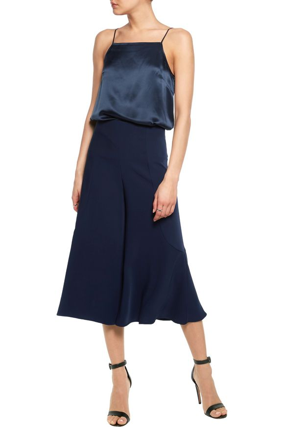 Bell stretch-cady culottes | IRIS & INK | Sale up to 70% off | THE OUTNET