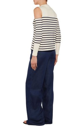 IRIS AND INK Paula high-rise chambray wide-leg pants