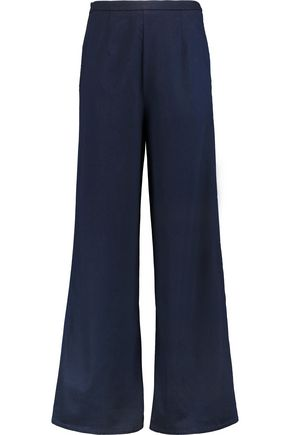 IRIS AND INK Paula high-rise chambray wide-leg pants