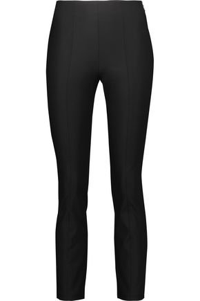 T by ALEXANDER WANG Stretch-crepe straight-leg pants