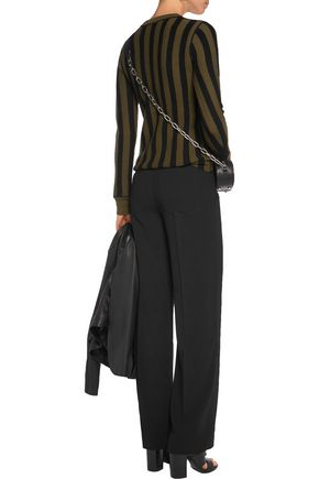 T by ALEXANDER WANG Crepe wide-leg pants