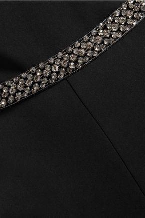 BADGLEY MISCHKA Embellished crepe jumpsuit