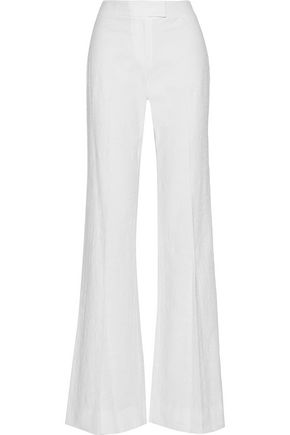 DIANE VON FURSTENBERG Nicola textured stretch-cotton wide-leg pants
