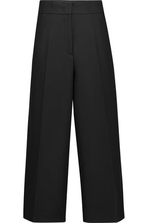 JIL SANDER Wool-felt wide-leg pants