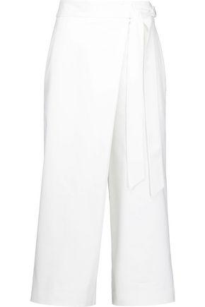 TIBI Agathe wrap-effect poplin culottes