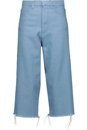 MARQUES' ALMEIDA Frayed stretch-denim culottes