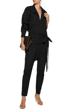 ISABEL MARANT Meery wrap-effect cotton-poplin jumpsuit