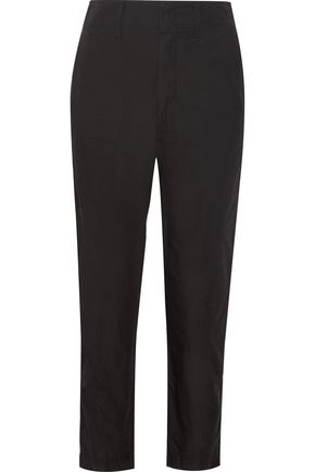 ISABEL MARANT Obli cotton-poplin straight-leg pants