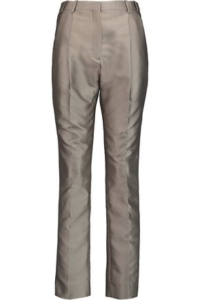 CARVEN Mikado pleated satin-twill pants