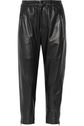 ISABEL MARANT Colin leather straight-leg pants