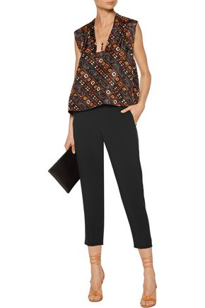 ISABEL MARANT Milane cropped crepe tapered pants