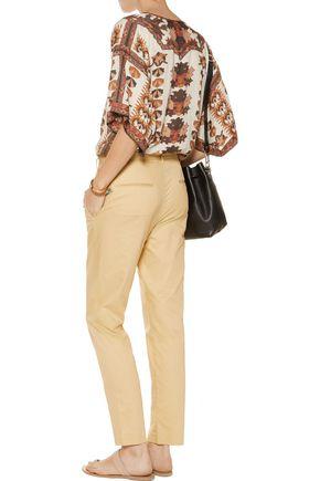 ISABEL MARANT Cotton-poplin straight-leg pants