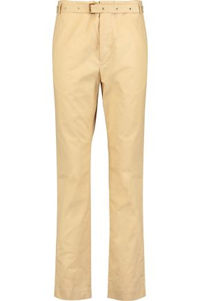 ISABEL MARANT Cotton-poplin slim-leg pants