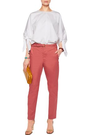 ISABEL MARANT Cotton-poplin straight-leg pants