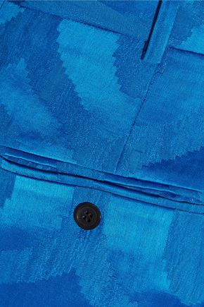 ISABEL MARANT Syd satin-jacquard tapered pants