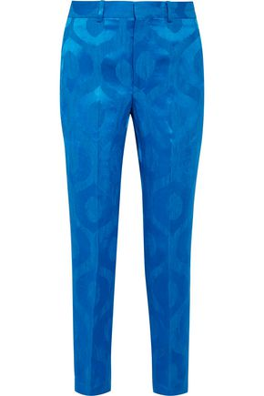 ISABEL MARANT Syd satin-jacquard tapered pants