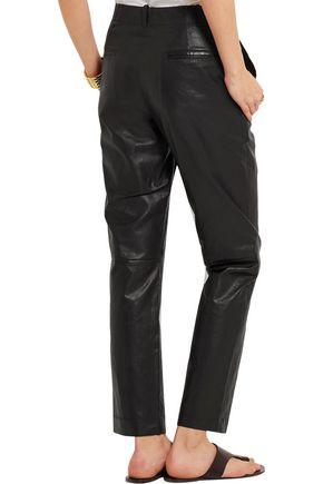 ISABEL MARANT Baixa leather tapered pants