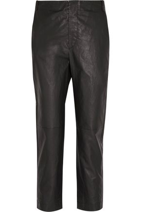 ISABEL MARANT Baixa leather tapered pants