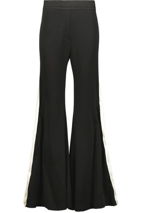ELLERY Lovedolls striped crepe de chine wide-leg pants