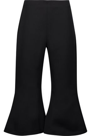 PAPER London Cropped faille flared pants