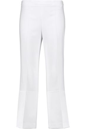 THEORY Laleenka cropped satin and crepe bootcut pants