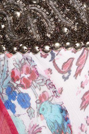 HAUTE HIPPIE Marisa bead-embellished silk-chiffon wide-leg pants