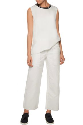 RAG & BONE Grace cropped cotton-twill wide-leg pants