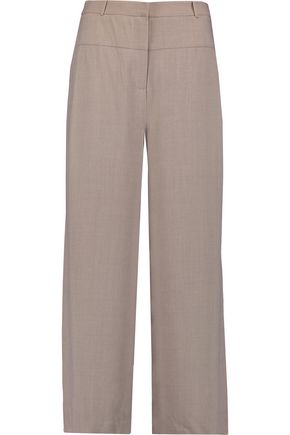 HALSTON HERITAGE Cropped crepe wide-leg pants