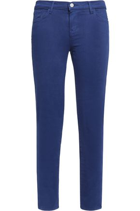 J BRAND Cropped Rail mid-rise skinny jeans