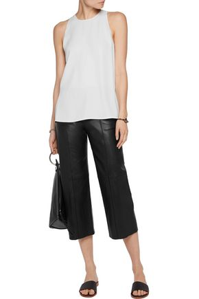 VINCE. Leather culottes