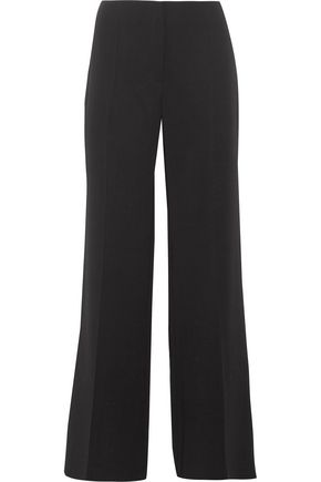 NINA RICCI Wool-blend crepe wide-leg pants