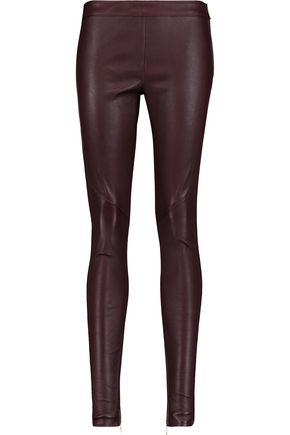 REBECCA VALLANCE Textured-leather skinny pants
