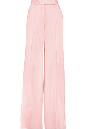 AMANDA WAKELEY Satin wide-leg pants