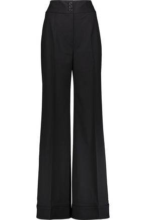 KATE MOSS EQUIPMENT Wool-blend wide-leg pants