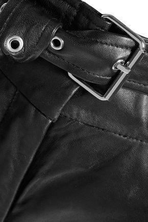 IRO Rifra belted leather straight-leg pants