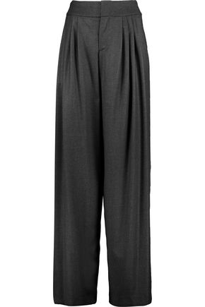 ALICE + OLIVIA Pleated twill wide-leg pants