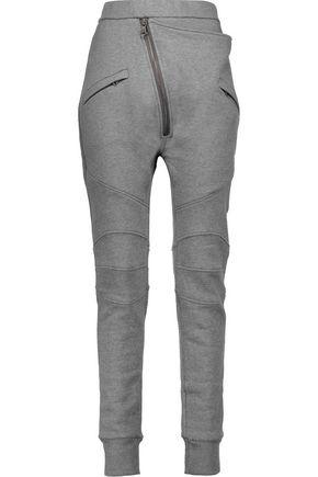 PIERRE BALMAIN Asymmetric cotton-blend jersey track pants