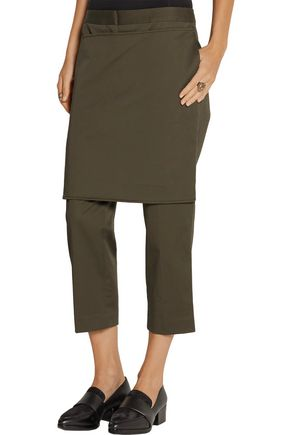 3.1 PHILLIP LIM Cropped layered cotton-blend straight-leg pants
