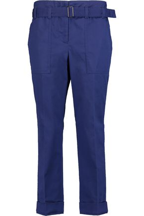 3.1 PHILLIP LIM Cropped belted cotton-blend straight-leg pants