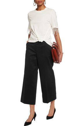 3.1 PHILLIP LIM Cropped cotton-blend twill culottes