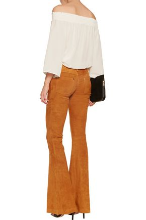 ALICE + OLIVIA Suede bootcut pants