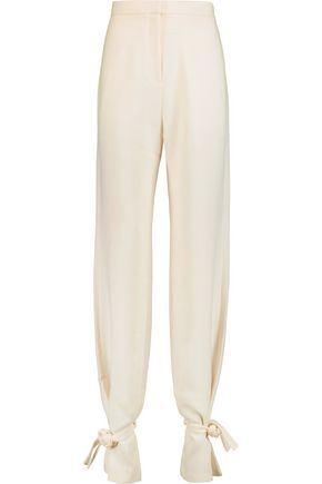J.W.ANDERSON Tie-detailed crepe pants