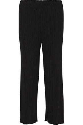 PROENZA SCHOULER Plissé stretch-cady flared pants