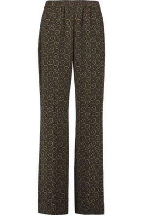 MICHAEL KORS COLLECTION Printed crepe wide-leg pants