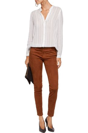 MAJE Faux suede skinny pants