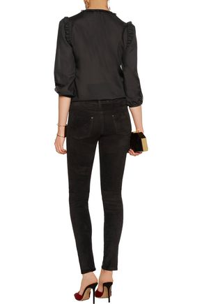 ALICE + OLIVIA Angie stretch-suede skinny pants
