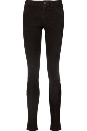 ALICE+OLIVIA Angie stretch-suede skinny pants
