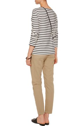 MAJE Cotton and linen-blend tapered pants