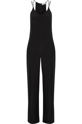 L'AGENCE Poppy brushed-silk jumpsuit